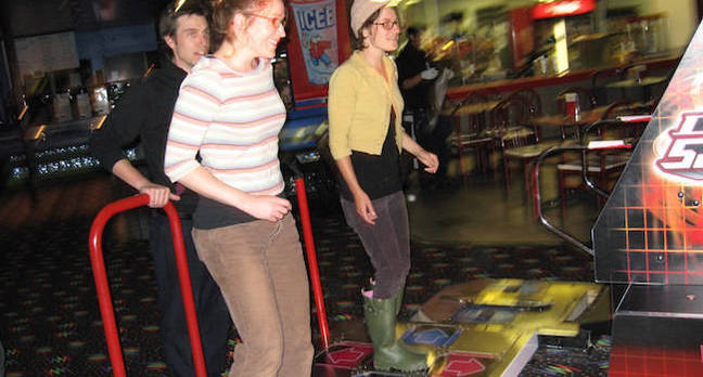 ddr players.jpgx648y348crop1 - Yet another job menaced by AI! Uh, wait, it says here… Dance Dance Revolution designers