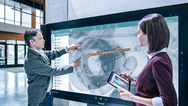f4ffc6424fe4edc65eec59cb0529e4acwidth650 - Microsoft Surface Hub offers wall-to-wall conference possibilities