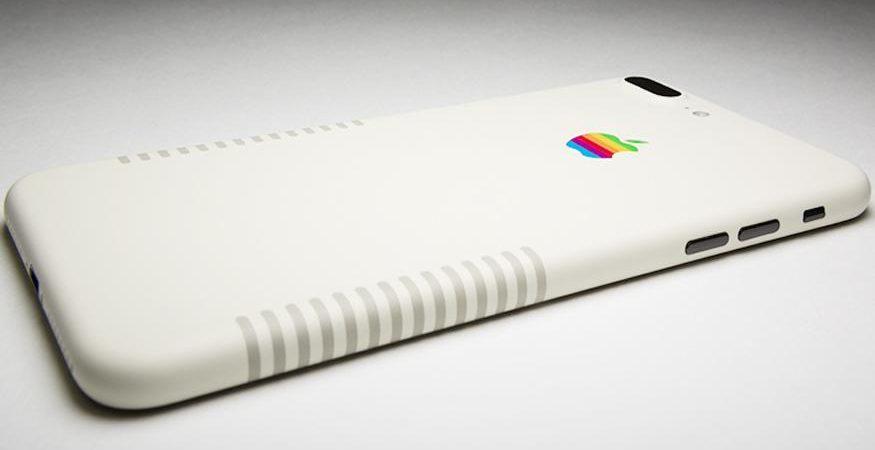 iphone 7 plus vintage by colorware 875x450 - Apple iPhone 7 Plus Retro Edition With Dark Beige Stripes, Apple Rainbow Logo is Here