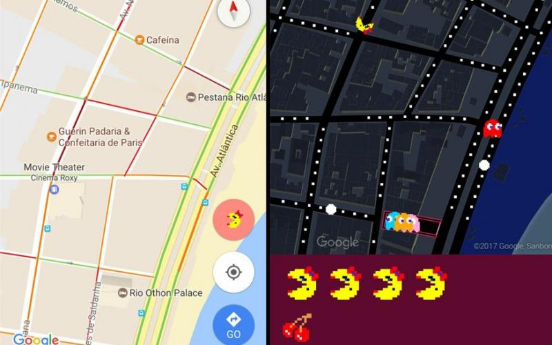Google Maps Pacman 800x500 - Google Brings Pacman on Google Maps on April Fool's Day