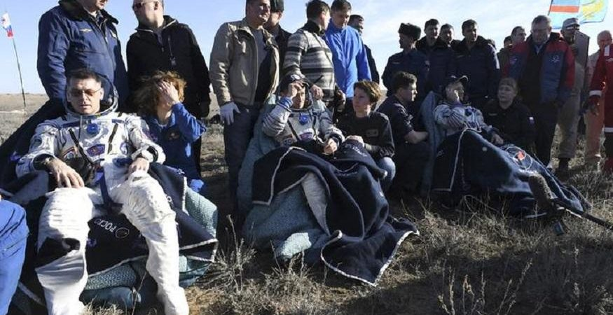 ISS Crew Members 875x450 - ISS Astronauts Land Safely in Kazakhstan After 173 Days in Space