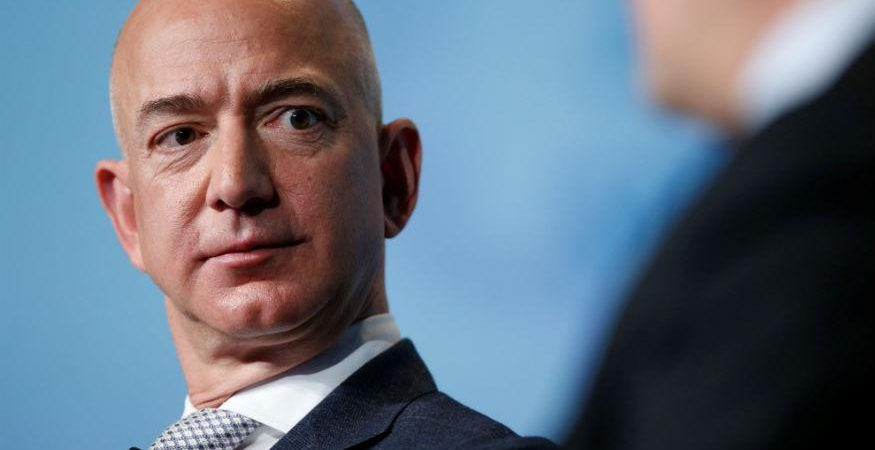 bezos 875x450 - Amazon Boss Bezos Selling $1 Billion Stock a Year to Fund Rocket Venture