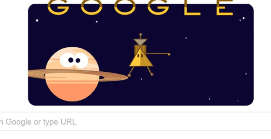 google doodle 875x450 - Google Doodle Marks Cassini Spacecraft's 'Grand Finale' of Saturn Mission