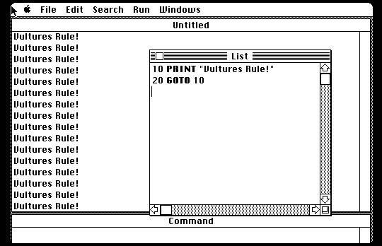 Basic 2.0 on the MacOS