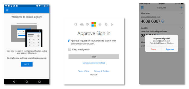 Windows account sign-on