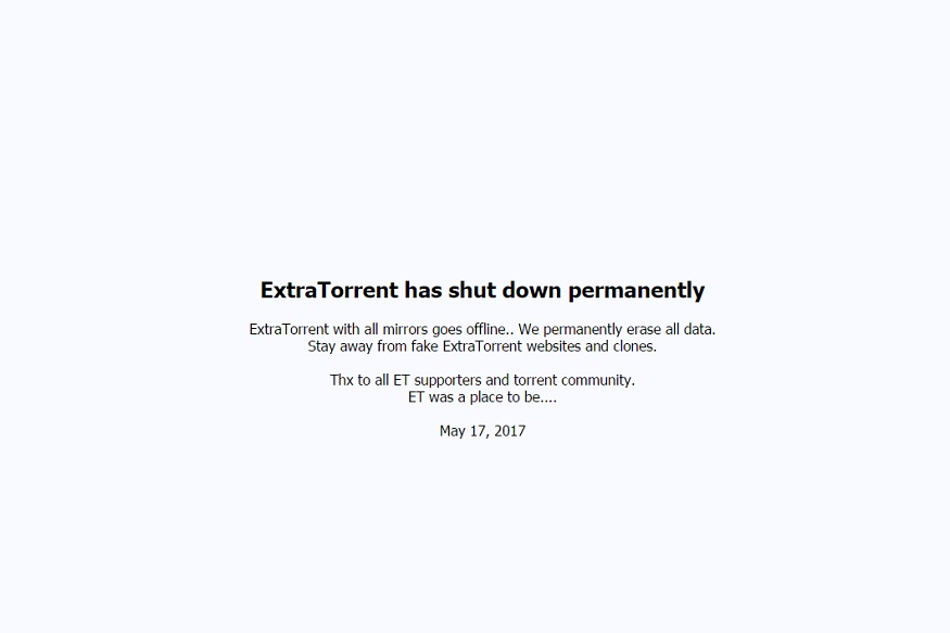 ExtraTorrent, Torrent website, Shut down, Kickass Torrents, Torrent.eu, Torrent news