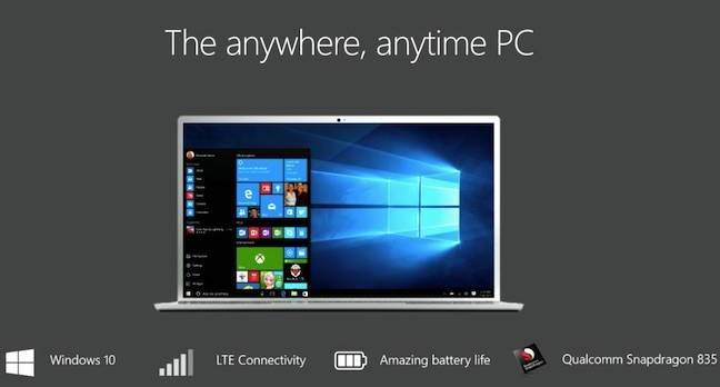 anytime pc - Microsoft's Windows 10 ARM-twist comes closer with first demonstration