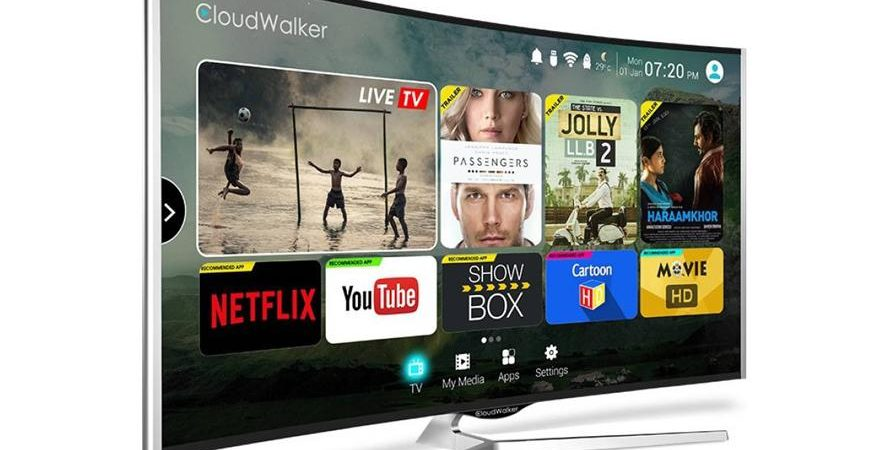 cloudwalker cloud tv 65 inch 875x450 - CloudWalker Launches Flat, Curved 65-Inch Cloud TV Models With Online Content Discovery Engine