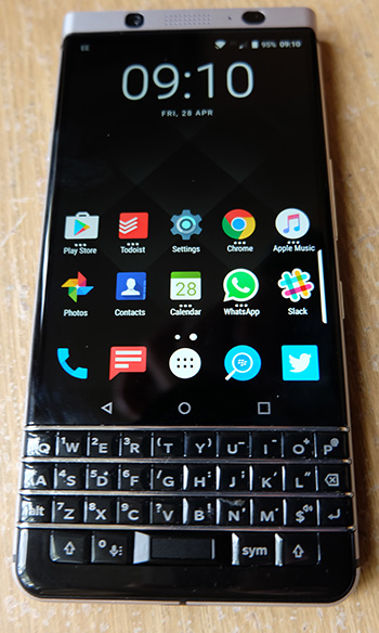 keyone front w350px - Well, hot-diggity-damn, BlackBerry's KEYone is one hell of a comeback
