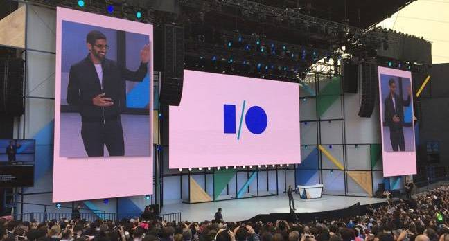 sundar at io17 - Like a celeb going bonkers with botox, Google injects 'AI' into anything it can