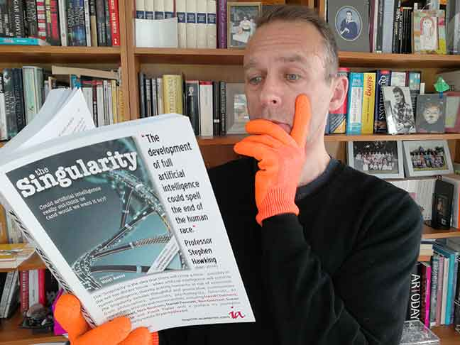 Dabbsy's reading adventure with Glovax gloves