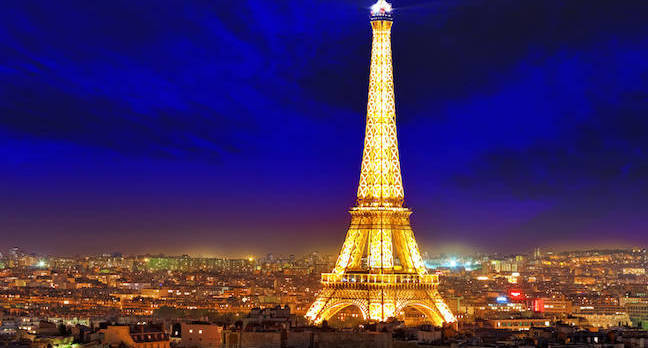 eiffel tower at night shutterstock - Microsoft throws its weight behind Parisian AI startup factory