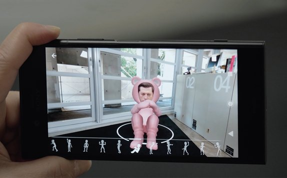 sony ar avatar - Xperia XZ1: Sony spies with its MotionEye something beginning…