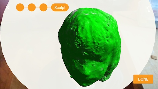 Image: 3D scanning in progress