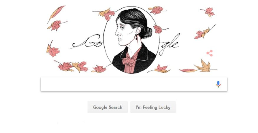 Google Doodle Virginia Woolf 875x450 - Google Doodle Celebrates Virginia Woolf's 136th Birth Anniversary; A Look Into The Life of The Legendary English Writer