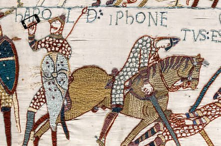 bayeaux tapestry iphone - Text bomb, text bomb, you're my text bomb! Naughty HTML freezes Messages, Safari, etc