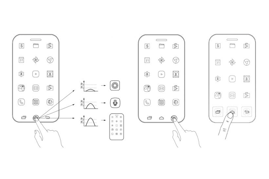 Samsung True Bezel-less Smartphone Design Patent