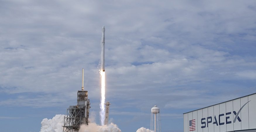 SapceX Falcon 9 Lift off 1 875x450 - SpaceX Launches Spanish Satellite, Two Others From California
