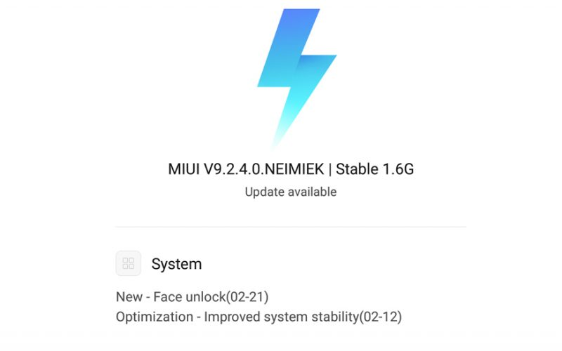 Xiaomi MIUI 9 Face Unlock Feature Update 800x500 - Xiaomi Redmi Note 5 Pro Receives 'Face Unlock' OTA Update