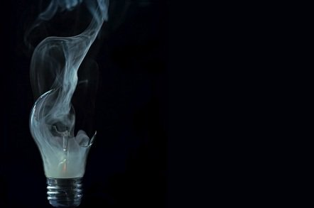 broken light bulb with smoke shutterstock - Capita data centres hit by buttload of outages