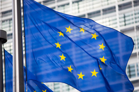 eu flag photo via shutterstock - EU hitches its cart to the blockchain bandwagon