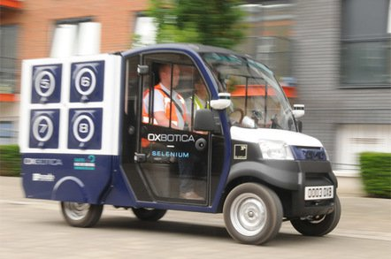 ocado oxbotica driving blurred 1 photo by gavin clarke - Robot cars will kill London jobs – but only from 2030, say politicans