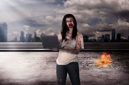 shutterstock demon laptop - You're the IT worker in charge of securing the cloud for your company. Welcome to Hell