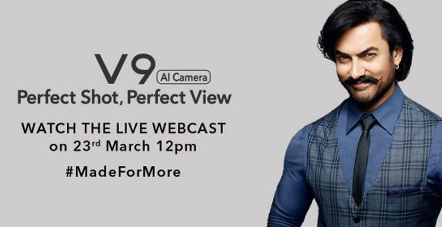 AAMIR VIVI V9 875x450 - Vivo V9 to Launch India Today: How to Watch Live-Stream, Expected Price, Specifications And More