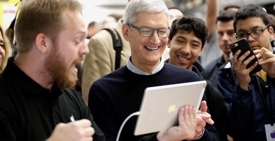 Apple CEO Tim Cook smiles 875x450 - Apple Launches iPad For Students With Support For Augmented Reality, Apple Pencil