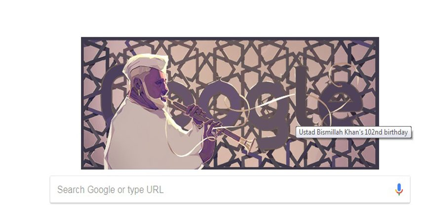 GOOGLE DOODLE STORY 875x450 - Google Doodle Celebrates Shehnai Maestro Ustad Bismillah Khan's 102th Birthday