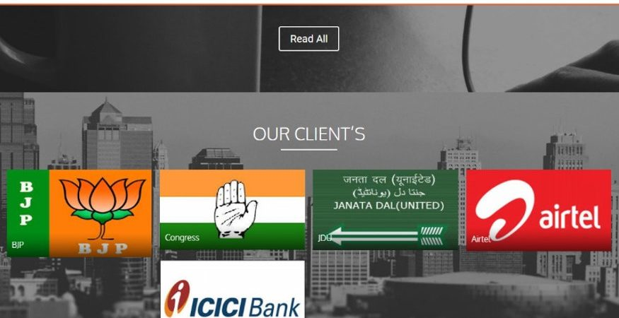 Ovleno clients 875x450 - FB Data Row: After Political Storm, Ovleno Director Removes Reference of Managing Elections for BJP