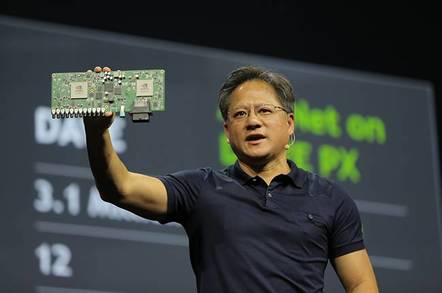 nvidia ceo with drive px - Try our new driverless car software says Nvidia, as it suspends driverless car trials