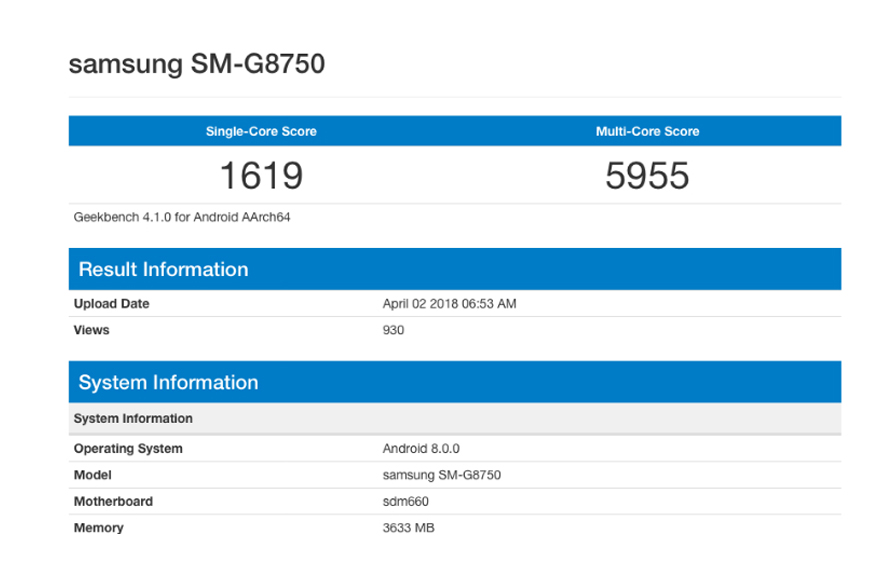 Samsung Galaxy S9 Mini Geekbench