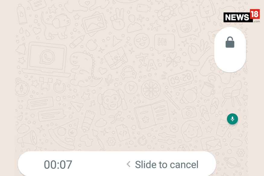 WhatsApp lock voice