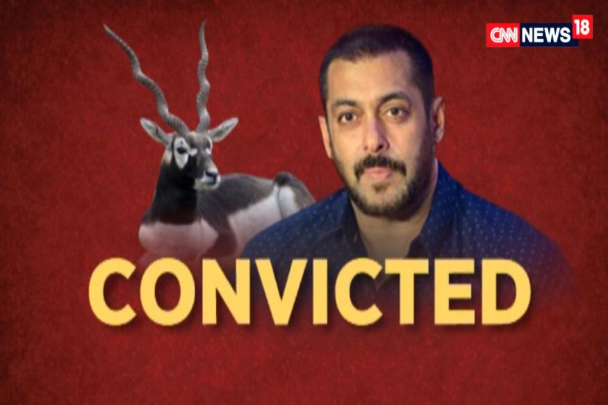 Salman Khan Convicted in Blackbuck Poaching Case, Gets 5-Year Jail