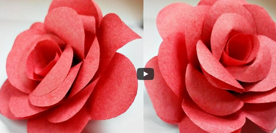 flower 930x450 - Origami flower rose how to do it