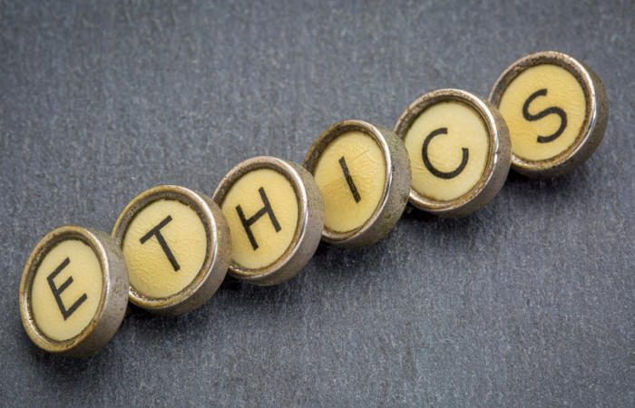 ethics typewriter keys values morals 100745586 large 700x450 - The ethical challenges of AI