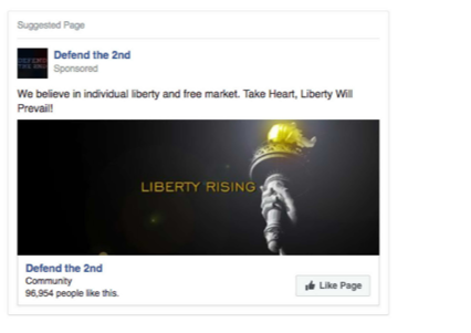 Facebook Russian ad: market