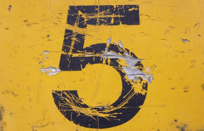 number 5 on yellow grunge background top five 100750851 large 700x450 - 5 imperatives for CIOs in this 'measure everything' era